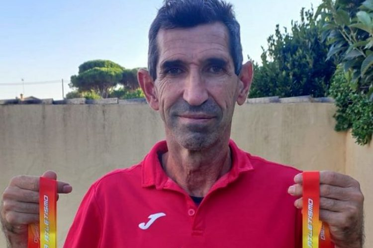 El veterano atleta rondeño Federico Sáez logra otras dos medallas de bronce en el Campeonato de España Máster