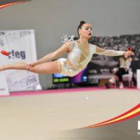 Las gimnastas del Club Agra de Ronda afrontan la nueva temporada con «ganas» en el Campeonato Nacional celebrado en Valencia