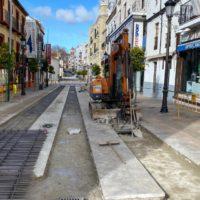 Las obras de reparación de la calle Virgen de la Paz provocan desvíos provisionales de tráfico