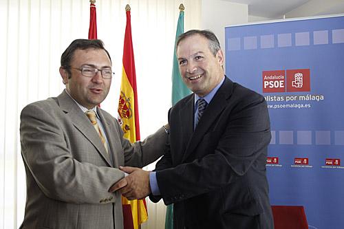 Miguel Ángel Heredia junto a Antonio Mª Marín.