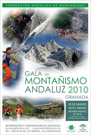 Cartel de la Primera Gala del Montañismo Andaluz