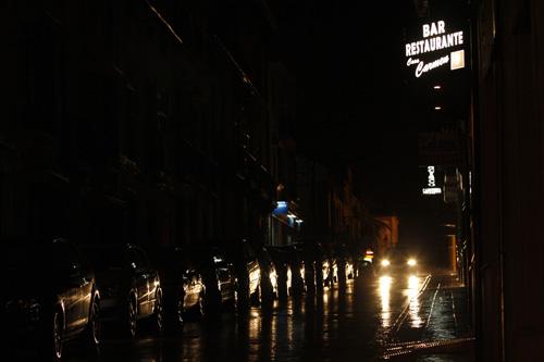 La calle María Cabrera sin alumbrado público.
