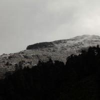 Nevada sobre las cumbres de la Sierra de las Nieves.