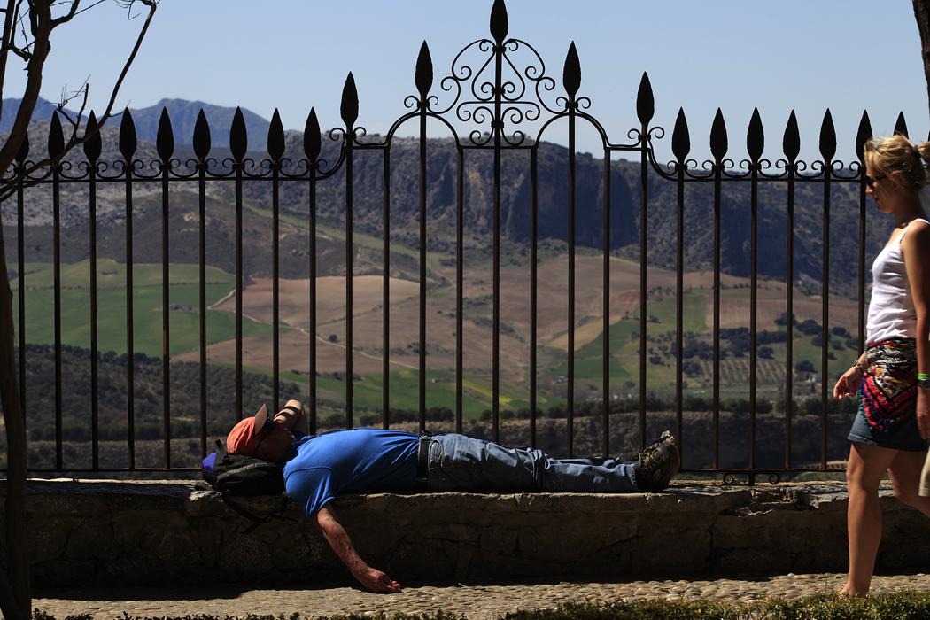 Los rondeños y los turistas han sufrido esta semana altas temperaturas.