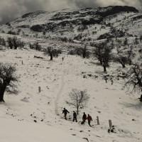 Paisaje nevado en la cumbre de Sierra de las Nieves.