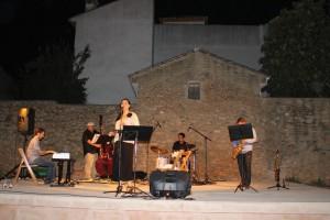 Un momento del concierto de Jazz sobre el nuevo escenario.