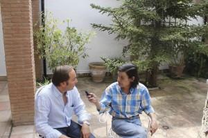 Daniel Harillo durante un momento de la entrevista.