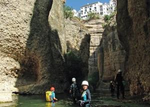 Travesía por el cañón del río Guadalevín a su paso por Ronda.