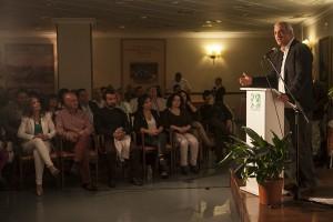 Antonio Ruiz durante su intervención en el mitin.