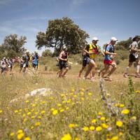 Un grupo de corredores durante el recorrido de la prueba.