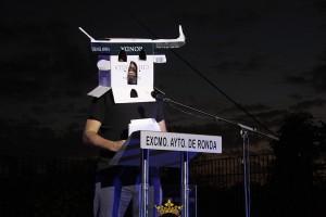 Mikel Urmeneta durante los momentos finales de