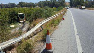 El accidente se ha producido a la altura de Cártama.Foto Gregorio Torres.