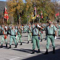 Efectivos legionarios realizarán una parada militar en el patio de armas del acuartelamiento de Montejaque.