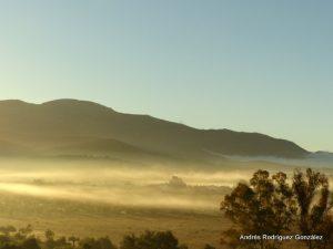 Un manto de niebla sobre los parajes de Ronda. Foto Andrés Rodríguez.