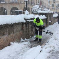 La nieve podría cubrir también las calles de Ronda, según las previsiones.