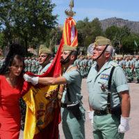 Nuevamente numerosos civiles realizarán la jura de bandera en el patio de armas de la Legión.