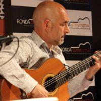 El artista Paco Seco en el reciente Festival de Guitarra de Ronda.
