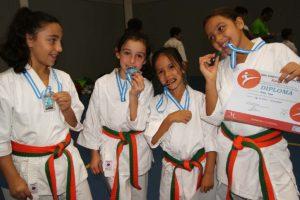 Cuatro karatecas rondeñas en el campeonato.