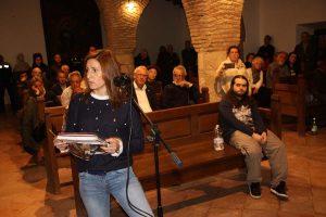 Una de las vecinas en el turno de palabra del público.