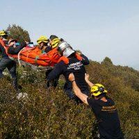 Guardia Civil y Bomberos rescatan a una mujer que quedó inmovilizada en la ruta de Fray Leopoldo de Atajate
