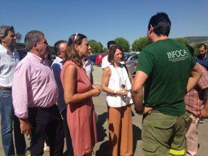 Patricia Navarro ha conocido de primera mano las reivindicaciones de los bomberos forestales.