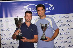 Jordi Muñoz (izquierda), junto a su rival en la final, Pablo Baena.