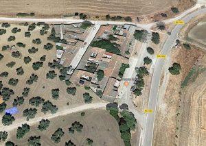 Vista aérea de Google Maps de la pedanía.