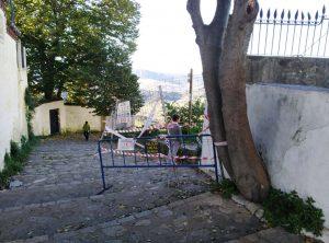 Camino de bajada al Tajo por El Campillo.