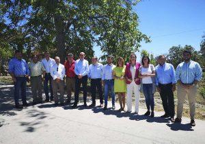 Susana Díaz con los candidatos de la Serranía,