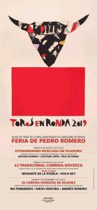 Cartel de los festejos taurinos.