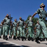 Parada militar celebrada el pasado julio en el acuartelamiento General Gabeiras.