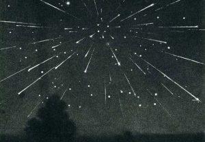 Representación artística del Corrimiento de Estrellas del 33.