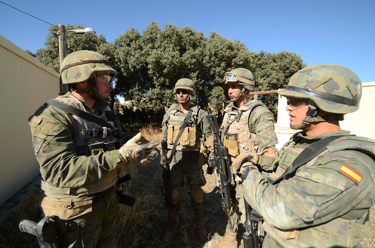 La Legión se estableció en la base de Besmayah. Foto: La Legión Española.