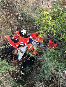 El accidentado estaba en una zona de difícil acceso.