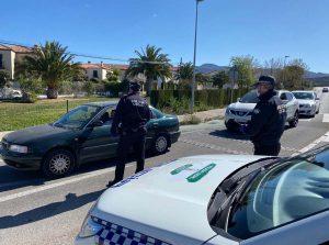 Control de la Policía Local en La Planilla.