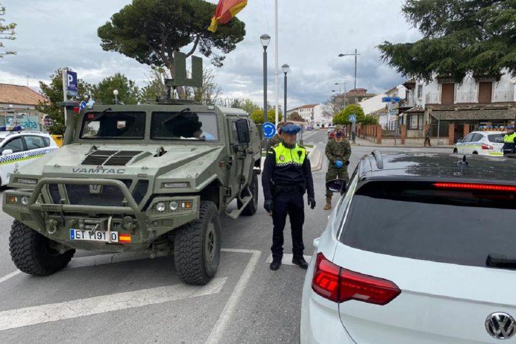La Policía Local y la Legión intensifican los controles en las calles rondeñas para el cumplimiento de las normas del estado de alarma