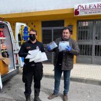 ALFARO dona a sanitarios, cuerpos de seguridad y residencias de mayores 2.000 mascarillas para combatir el coronavirus