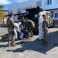 La Legión continúa las labores de desinfeción en Asprodisis, Geroclinic y centros de día de personas mayores