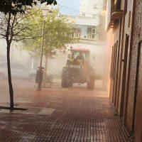 Los agricultores de las pedanías vuelven a colaborar con el Ayuntamiento en la desinfección de la ciudad
