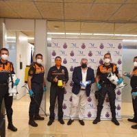 La Diputación de Málaga entrega material de seguridad y prevención a seis agrupaciones de Protección Civil de la Serranía