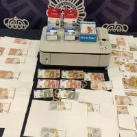 La Policía Nacional detiene a un joven de Ronda por falsificar billetes en su domicilio con una impresora multifunción