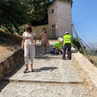 Comienzan los trabajos de iluminación del recién recuperado camino histórico de Albacar