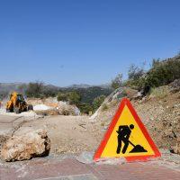 Alpandeire repara el nuevo acceso al municipio que sufrió graves daños en el temporal de finales de 2018