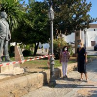 Blas Infante regresa a su sitio de honor: el paseo junto al Tajo y que lleva su nombre
