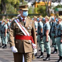 La Legión celebra en su base de Almería su centenario con la presencia del rey Felipe VI y con gran solemnidad