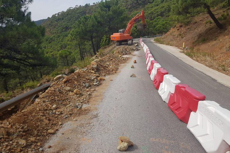 La Diputación invierte 474.000 euros en el arreglo de la carretera de acceso a Jubrique desde Peñas Blancas