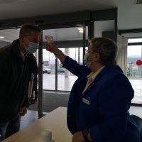 El Área Sanitaria Serranía refuerza el control de accesos al Hospital