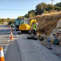 La Diputación de Málaga inicia la reparación de taludes en una de las carreteras de acceso a Arriate