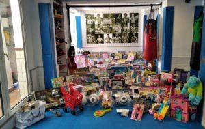Imagen de los juguetes donados.