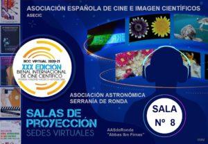 Cartel de la Bienal Internacional de Cine Científico de Ronda.